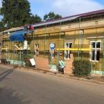 Könyvtár épület állványozása, felújítása