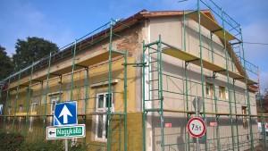 könyvtár épület külső szigetelése